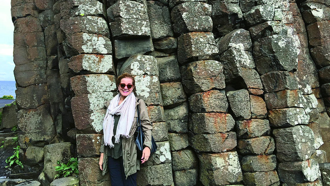 The author at Giant's Causeway. Photo Credit: Courtesy of Patricia Schultz