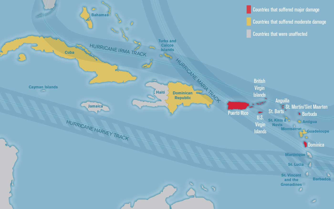 Updated Mapping Whats Open And Closed In The Caribbean Travel - Caribbean anguilla map