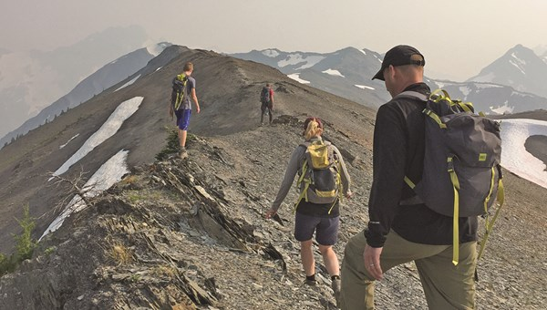 The most ambitious group headed across ridges at an altitude reaching 8,600 feet.