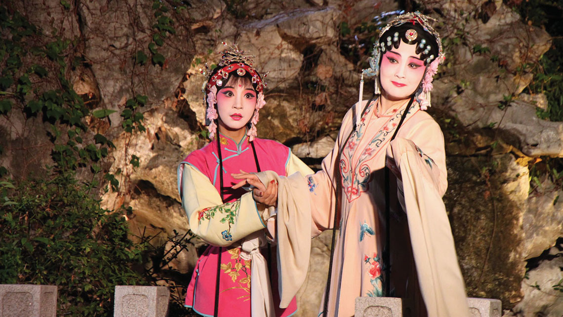 "Kunqu performers in a segment of a popular 400-year-old opera, ""The Peony Pavilion."" Photo Credit: Nadine Godwin"