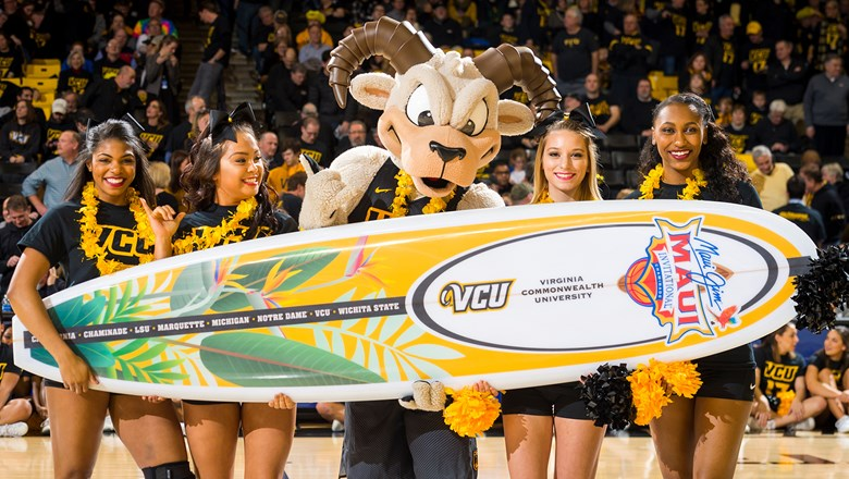 The Maui Invitational basketball tournament at the Lahaina Civic Center features Virginia Commonwealth University and many other top NCAA programs.