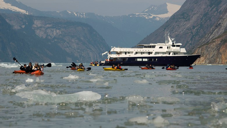 UnCruise Adventures' Safari Explorer in Alaska. The line will require that passengers be vaccinated.