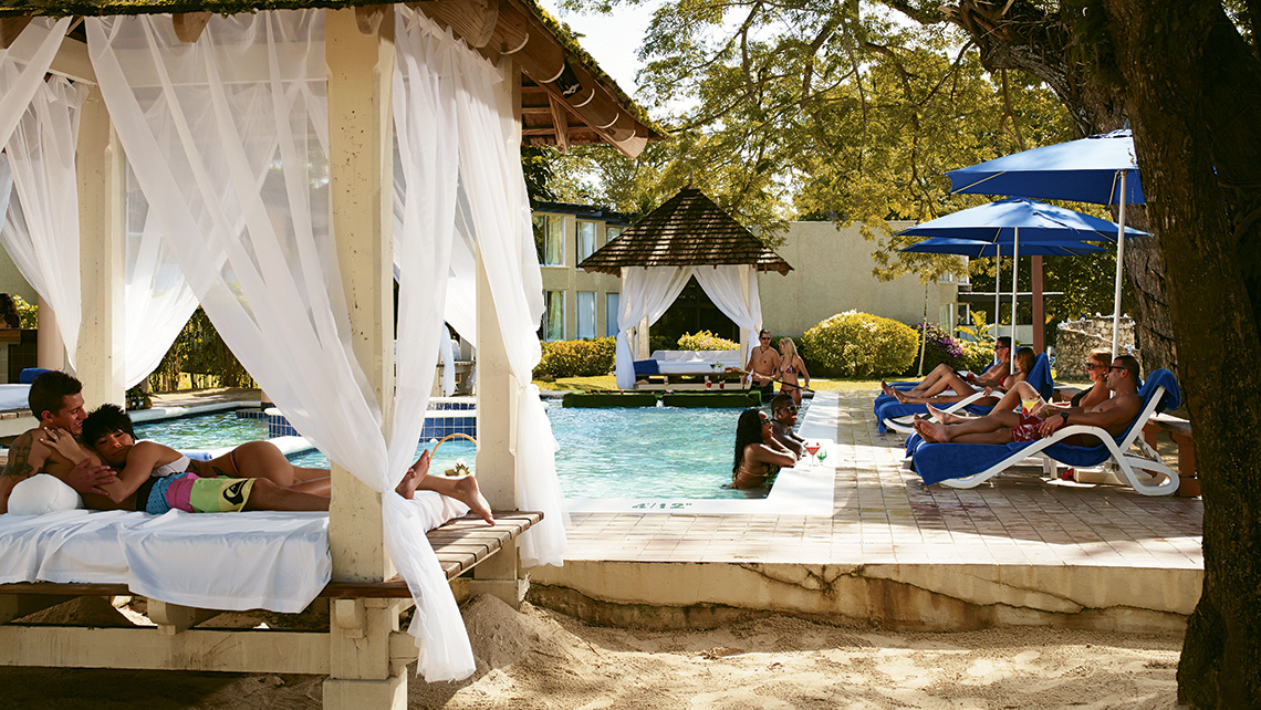 The clothing-optional prude pool at Hedonism II in Negril, Jamaica.