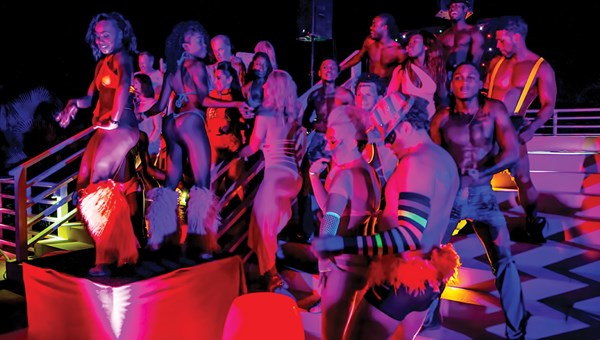 The Hedonism Glow pool party at Hedonism II in Negril, Jamaica.