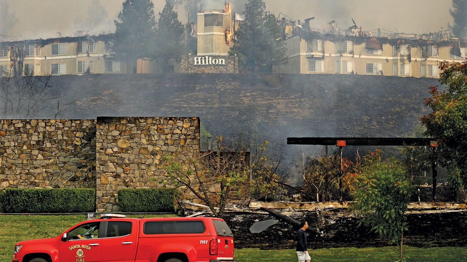 California wildfires threatening state's wine, tourism industries