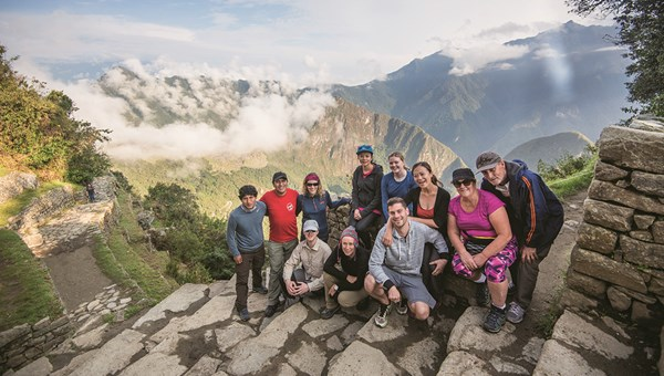 An Intrepid Travel group of solo travelers in Peru.