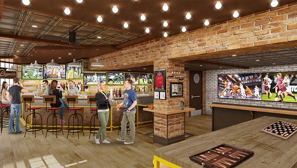 The Playmakers sports bar will be in the Boardwalk neighborhood.