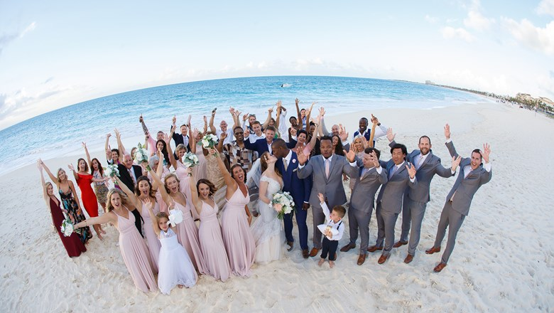 The Turks & Caicos celebrated its first post-hurricanes destination wedding at Seven Stars Resort & Spa on Grace Bay.