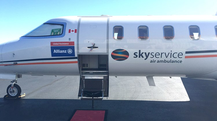 Allianz Global Assistants contracts with Skyservice for its air ambulance service.