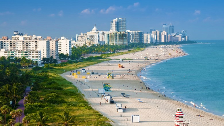 The beaches have been restored and most attractions have reopened in Miami Beach.