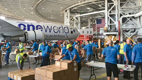 With little fanfare, U.S. airlines mounted extensive storm relief