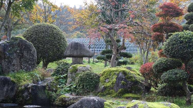 A rock garden outside Obanazawa.