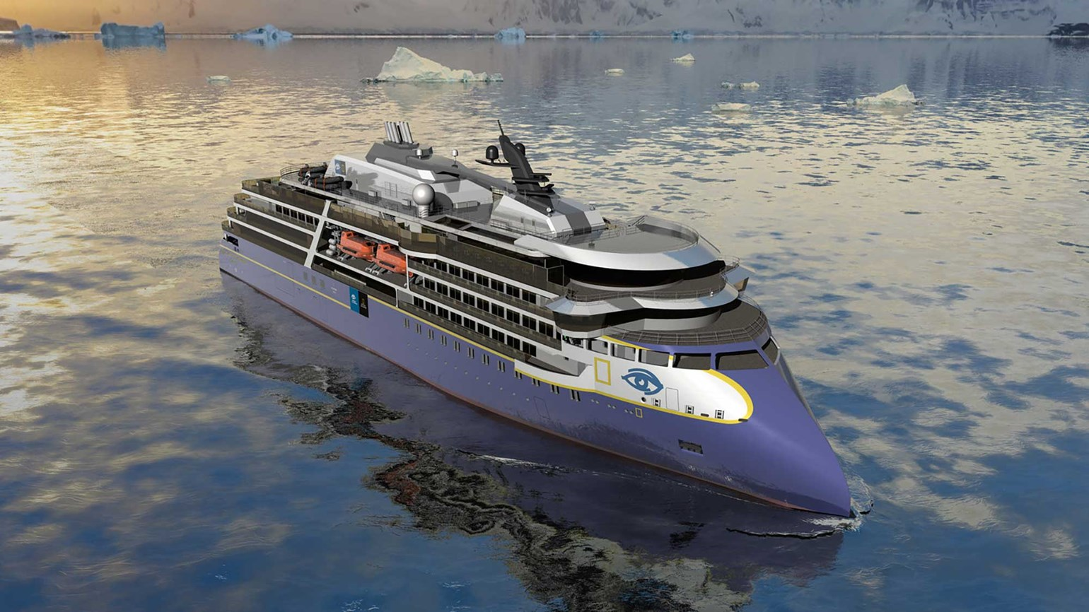 Lindblad orders expedition ship with inverted bow