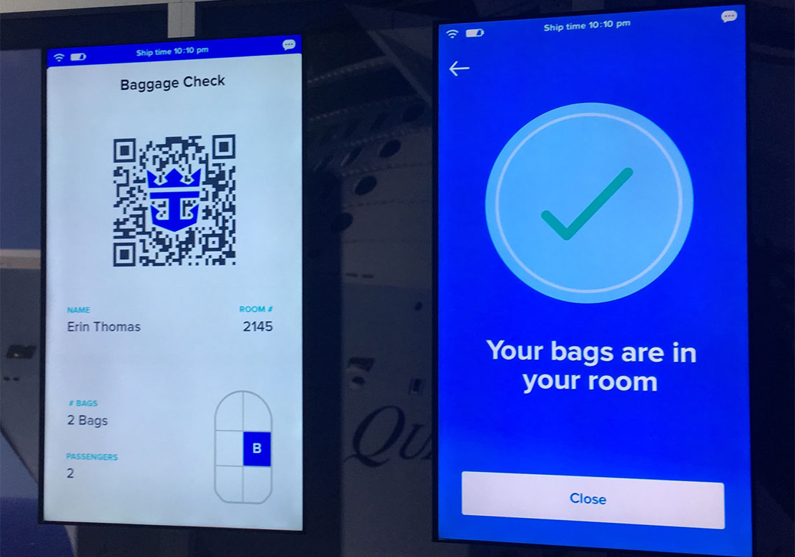 Royal Caribbean demonstrated its upcoming luggage app. Photo Credit: Johanna Jainchill