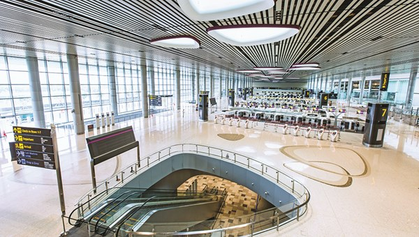 The new Terminal 4 in Singapore's Changi Airport has biometric self-service options at check-in, immigration and boarding.