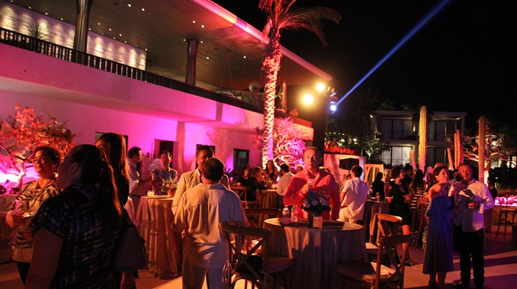 The summit's opening cocktail reception at the Chileno Bay Resort and Residences.