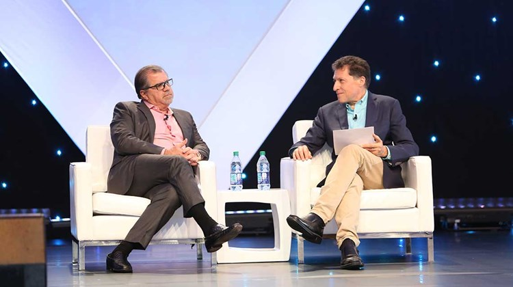 &#39;&#39;We don't like to be copy cats,&#39;&#39; said Frank Del Rio, president and CEO of Norwegian Cruise Line Holdings, during CruiseWorld&#39;s opening CEO Conversation, conducted by Travel Weekly editor in chief Arnie Weissmann.<br /><br /><strong>Photo Credit: Creative Focus</strong>