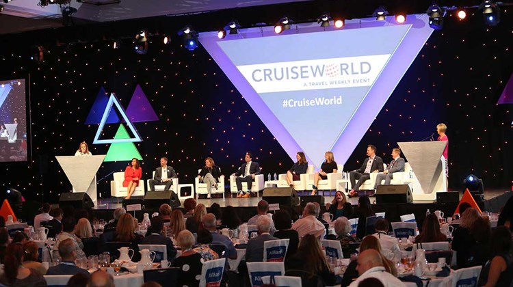 The &#39;&#39;Mastermind Sales & Marketing Secrets of Success&#39;&#39; panel share their insights and personal anecdotes with CruiseWorld&#39;s travel adviser attendees on the opening day of CruiseWorld 2017. The show, which opened Nov. 15 in Fort Lauderdale, spans three days of agent seminars, executive panels, a trade show and other events.<br /><br /><strong>Photo Credit: Creative Focus</strong>