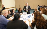 Wayne Peyreau of MSC Cruises presents to an intimate group of STAR Program participants during CruiseWorld's new STAR Showcase.