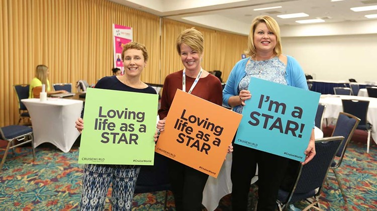 STAR Program participants have some fun in the STAR Lounge, sponsored by Travel Planners International.