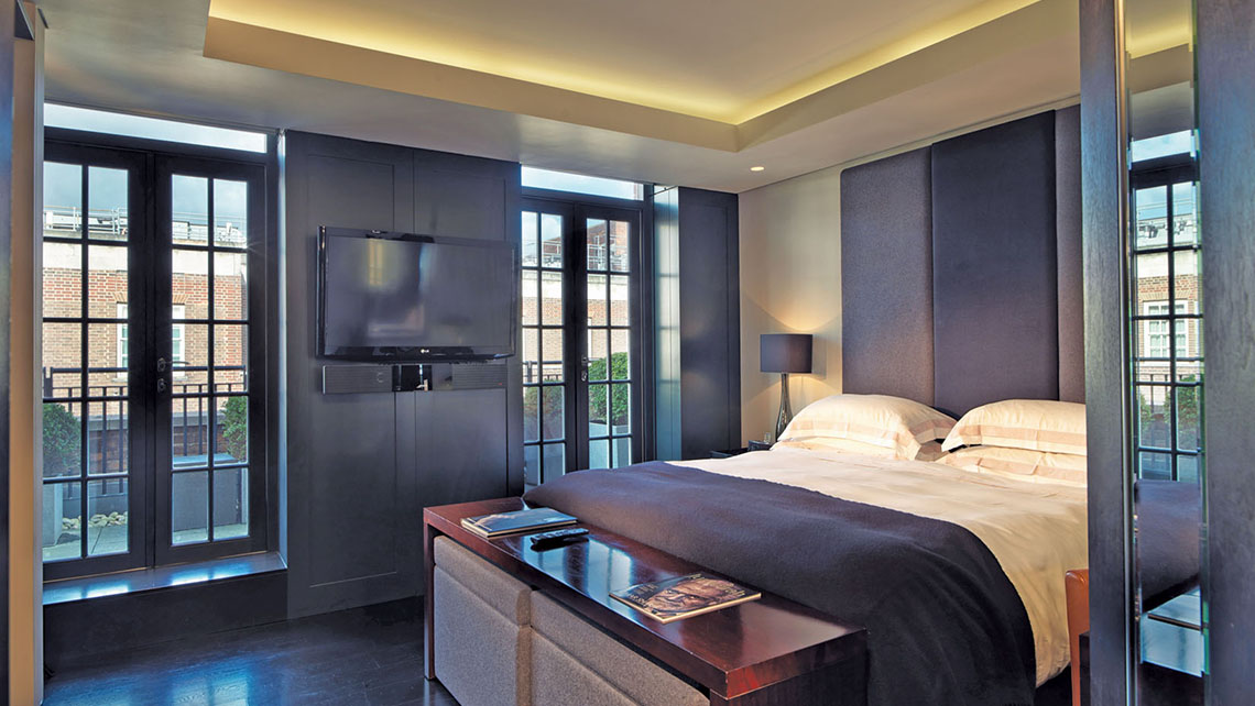 The apartment-style suites at Grosvenor House are intended for extended stays.