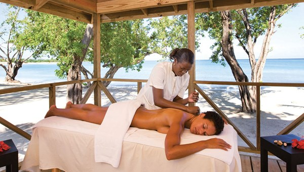 A guest enjoys a massage at Renova Spa at the Riu Montego Bay. Other Riu hotels in Negril and Ocho Rios are 90 minutes from Montego Bay.