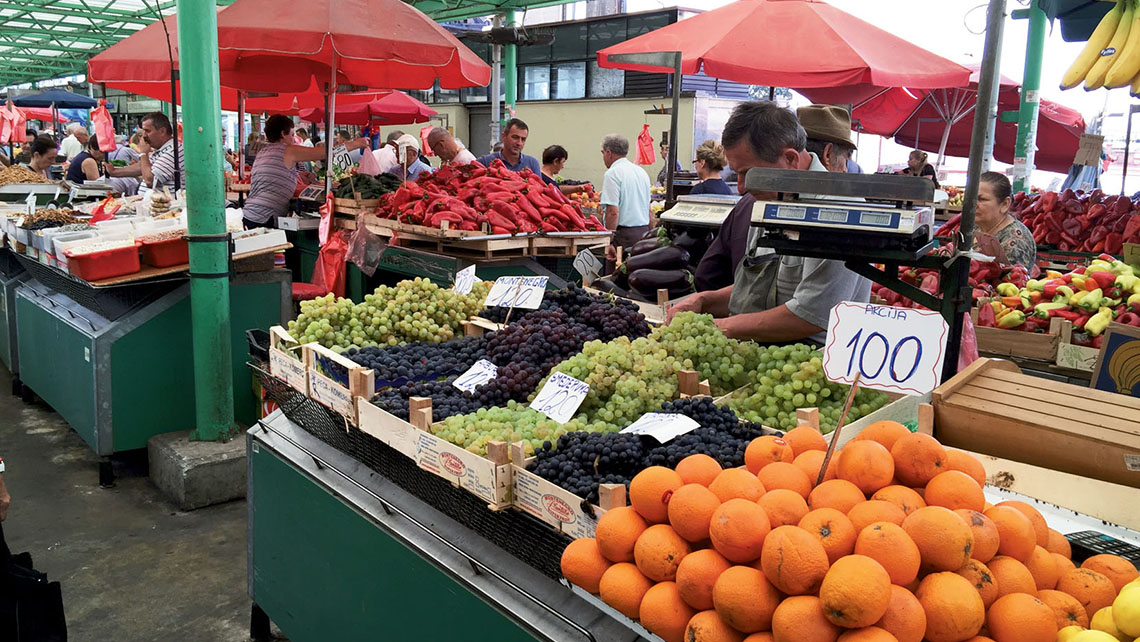 A farmers market in Belgrade offers fresh fruit at unbeatable prices. Belgrade also has many museums and a thriving nightlife scene. Photo Credit: TW photo by Robert Silk