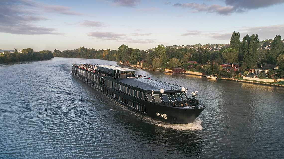 The B, U by Uniworld's restyled river ship, on a preview cruise out of Paris last month. Uniworld's new brand is designed to attract younger river cruisers.