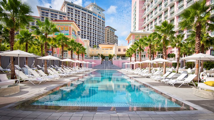 A pool area at the SLS Baha Mar.