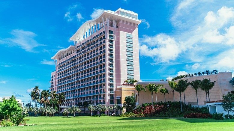 The 299-room hotel, the second to open at the Bahamas resort, made its debut Nov. 17.