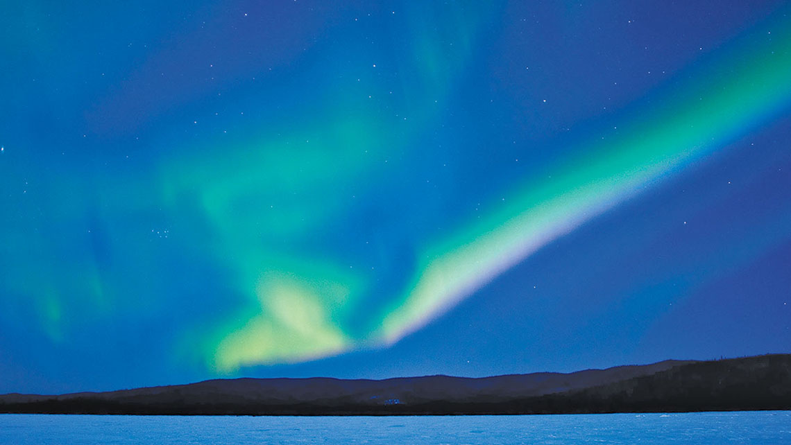 March nights are still long and dark enough for northern lights viewing, according to Alaska Railroad.