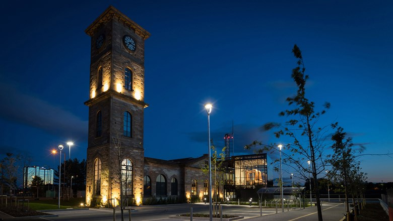 The Clydeside Distillery on the banks of the River Clyde in Glasgow.