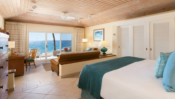 A junior suite at Curtain Bluff.