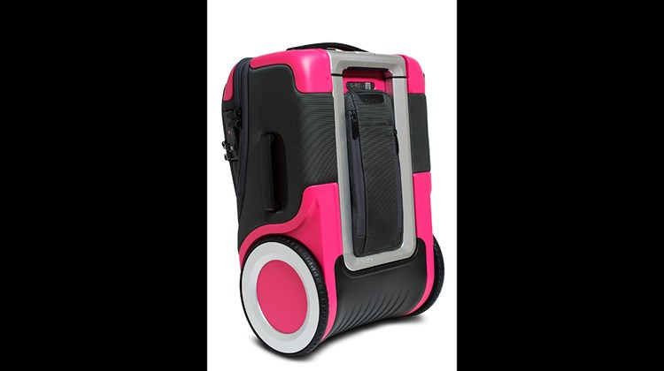 While dual USB ports and a portable power bank keep your electronic accessories humming, this bag's 9-inch diameter wheels really keep it rolling. The wheels, which look as good as they move, are attached to the sides of the carryon, eliminating the need for a space-eating interior axel. Other attributes of the G-Ro Carryon include an extra-long, four-stage handle; a luggage locator that links to a dedicated app; and a padded laptop pocket among four exterior compartments.