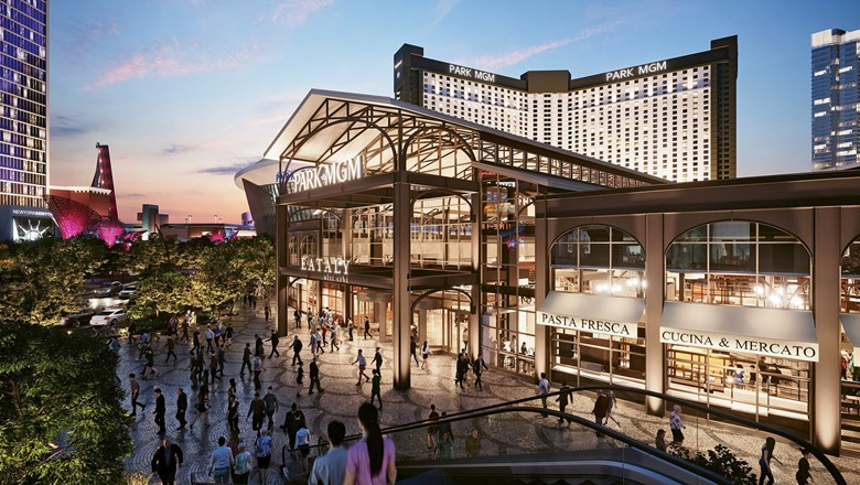 A rendering of Eataly at the Park MGM. Mario Batali's foodie mecca is one of several dining venues opening next year on the Las Vegas Strip.