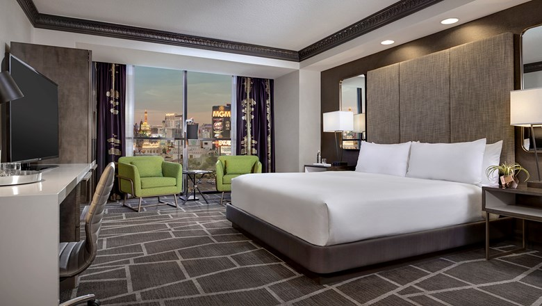 The Luxor S Newly Updated Rooms With Sleek Decor And Multipurpose Furnishings Will Be Rolling