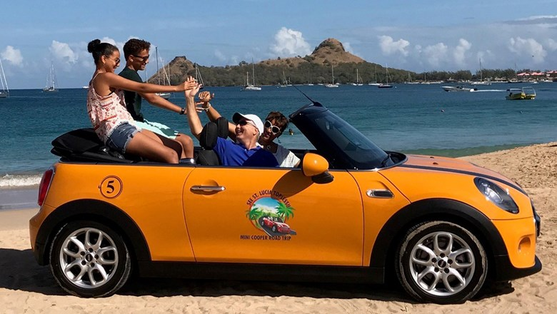 A New Self Drive Tour In St Lucia Features Transportation Via Convertible Mini Cooper