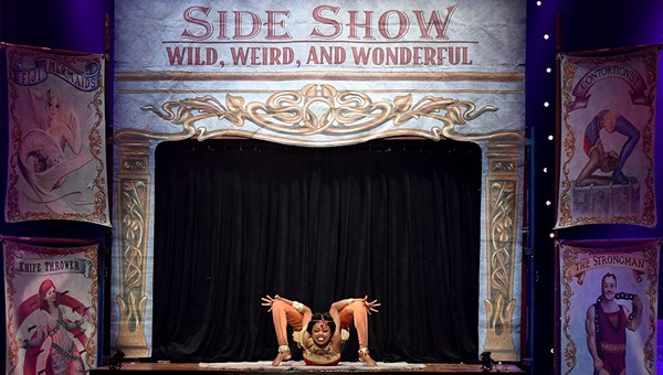 Elastic dislocationist Senayet Assefa Amara performs in CIRCUS 1903 at Paris Las Vegas.
