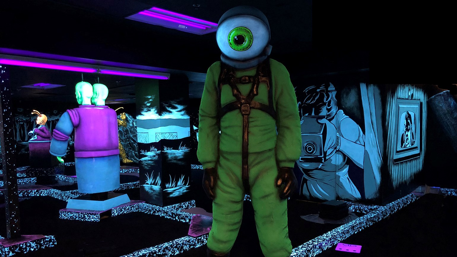Step into a parallel universe at Twilight Zone by Monster Mini Golf