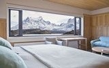 Many of the lodge's 50 rooms feature views of the park's iconic Paine Massif.