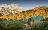 EcoCamp's domes include ones for yoga and dining.