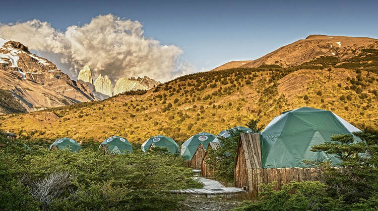 EcoCamp's domes include ones for yoga and dining.<br /><br /><strong>Photo Credit: EcoCamp Patagonia</strong>