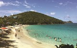 Cruise passengers enjoy St. Thomas' Coki Beach.