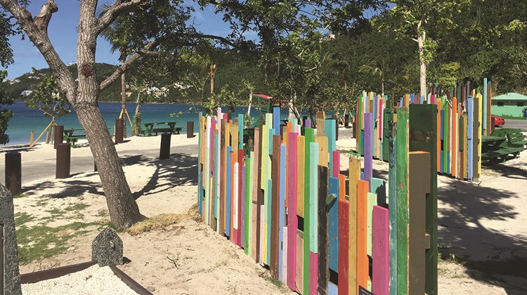 Royal Caribbean turned storm debris into art as part of its restoration of Magens Bay in St. Thomas.<br /><br /><strong>Photo Credit: TW photo by Johanna Jainchill</strong>