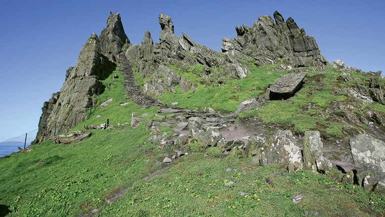 UNESCO World Heritage Site, Skellig Michael, Ireland, where Rey discovers and trains with Luke.