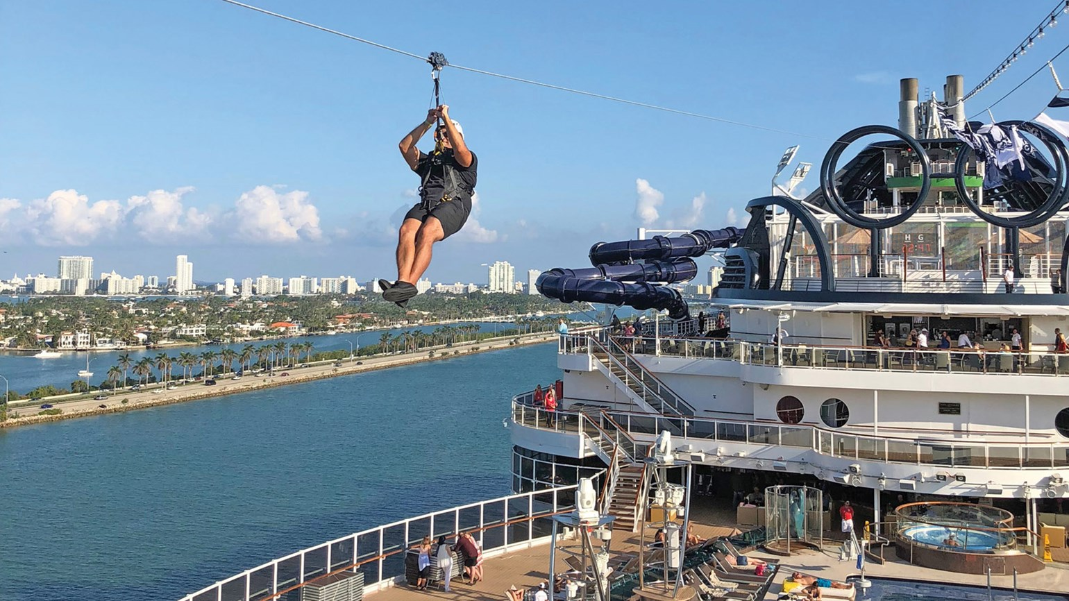 Msc Seaside S Long Zipline Is Worth A Long Wait Travel Weekly
