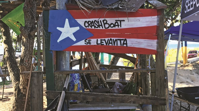 News editor Johanna Jainchill spent a week in Puerto Rico and St. Thomas in December, three months after Hurricanes Maria and Irma ravaged the islands, experiencing the recovery and resurgence of their tourist industries. ''Se Levanta,'' or rise up, is the post-hurricane rallying cry in Puerto Rico.