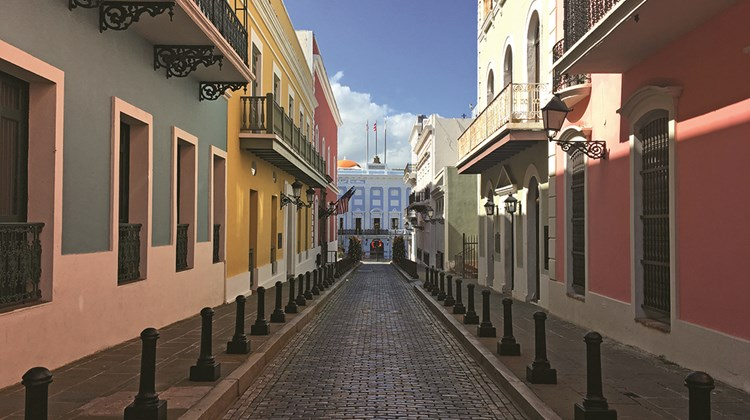 A street in Old San Juan.<br /><br /><strong>Photo Credit: TW photo by Johanna Jainchill</strong>