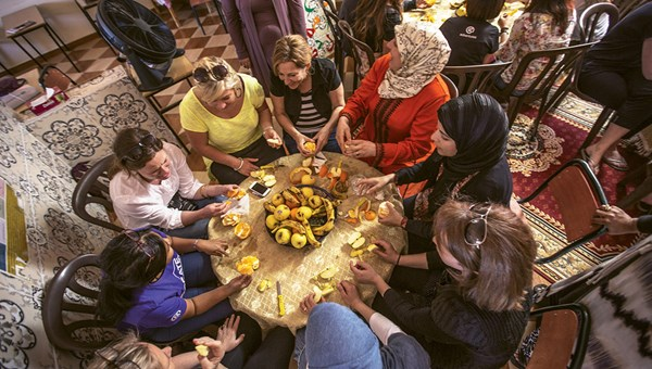 In Morocco, G Adventures helped develop the Meknes Community Lunch to foster women's rights.