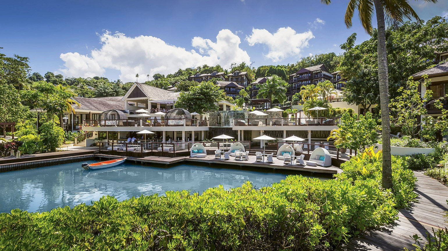 St. Lucia's Marigot Bay Resort offers spacious seclusion
